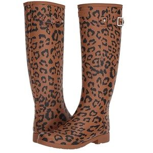 Hunter Cheetah Print Rain Boots